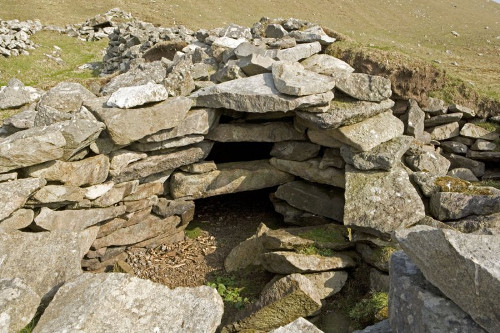 Remains of 'Amazons house' Hirta, St Kilda