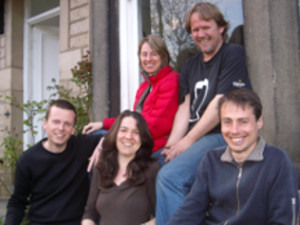 Five original members of Lancaster Cohousing